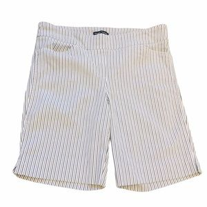 NWOT HILARY RADLEY White Bermuda Striped Short 12